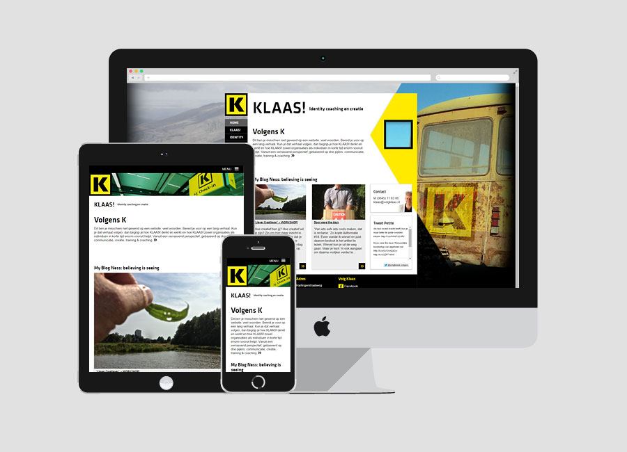 WordPress website Volgklaas