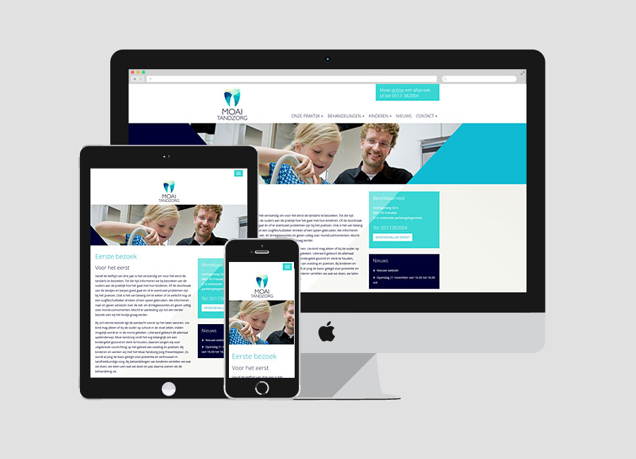 WordPress website Moai Tandzorg