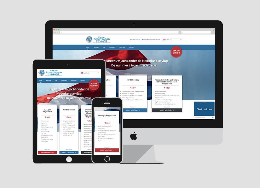 Meertalige site Yacht Registration