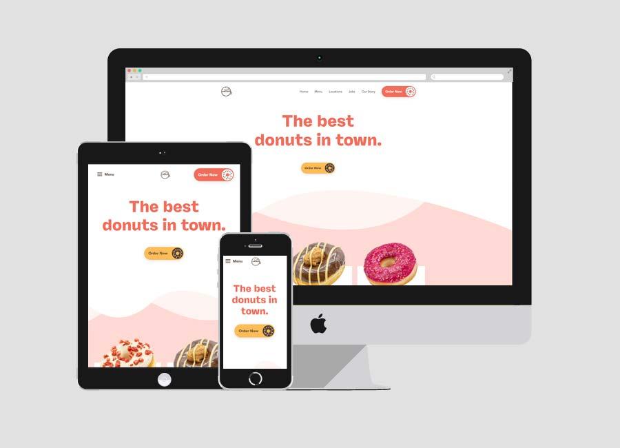 Brammibals donuts WordPress website